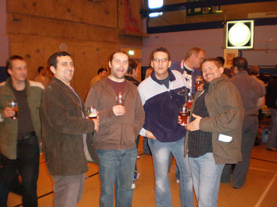 The lads at the Woking Beer Festival
