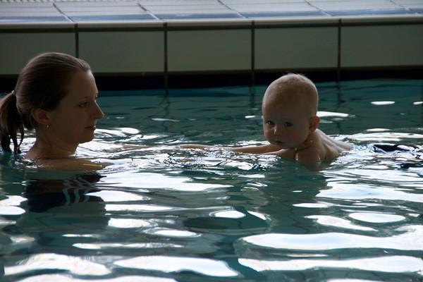 Abel's first swim